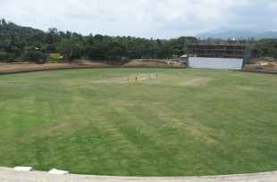 A view of the Pallekele Stadium, August 23, 2010