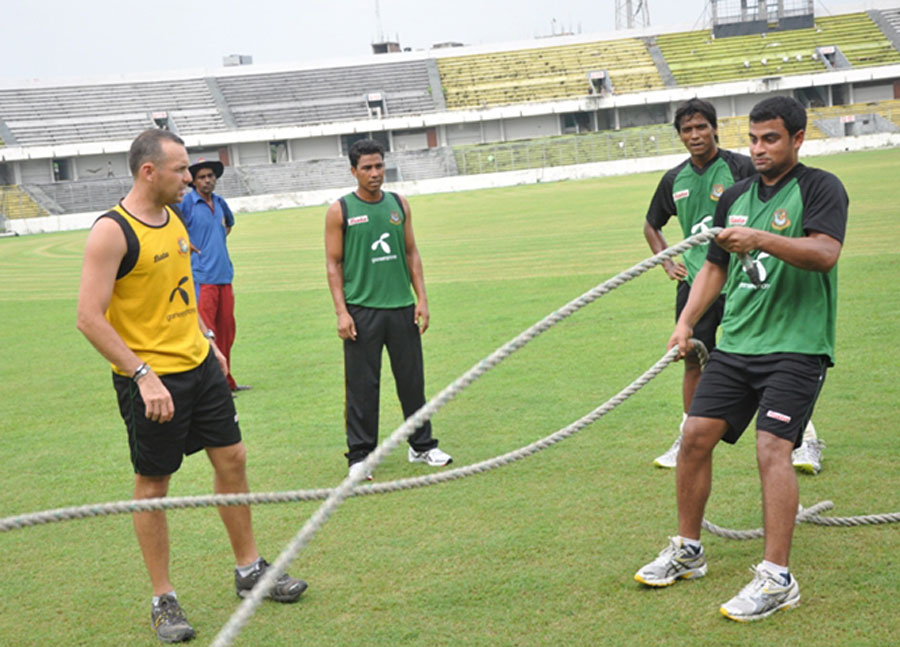 Bangladeshi players training