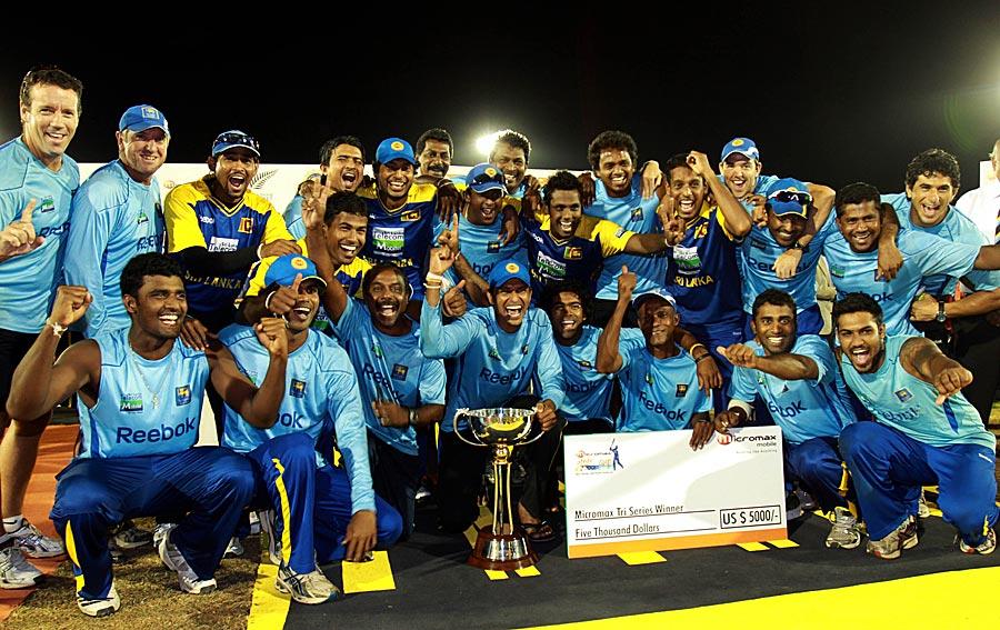 The victorious Sri Lankan team