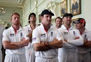 A sombre Andrew Strauss watches the indoor presentation ceremony, England v Pakistan, 4th Test, Lord's, August 29, 2010