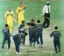 Sri Lanka celebrate their victory