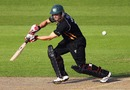 Gareth Andrew, using the Mongoose bat, hit the first century of his career from 58 balls, Surrey v Worcestershire, CB40, The Oval, September 1, 2010