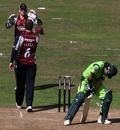 Fawad Alam played on to Mark Turner just three runs short of his hundred, Somerset v Pakistanis, Tour Match, Taunton, September 2 2010