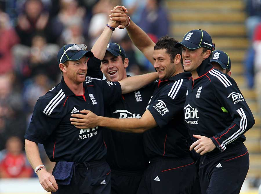 Tim Bresnan struck in his first over to remove Kamran Akmal