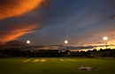 The ground was bathed in a warm glow as the sun set in Cardiff, England v Pakistan, 2nd T20I, Cardiff, September 7, 2010