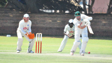 Mark Vermeulen drives through the off side