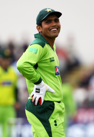 Kamran Akmal is under scrutiny off the field, but was in good spirits nonetheless, England v Pakistan, 1st ODI, Chester-le-Street, September 10 2010