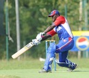 Lennox Cush bats, Italy v USA, ICC World Cricket League Division 4 final, August 21, 2010