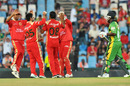 Bangalore celebrate the dismissal of Travis Dowlin, Royal Challengers Bangalore v Guyana, Champions League Twenty20, Centurion, September 12, 2010