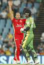 Jacques Kallis sends back Jonathan Foo, Royal Challengers Bangalore v Guyana, Champions League Twenty20, Centurion, September 12, 2010
