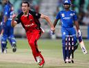 Cullen Bailey celebrates his first Twenty20 wicket, Mumbai Indians v South Australia, Champions League Twenty20, Durban, September 14, 2010