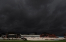 Dark clouds circle Old Trafford as play was delayed on the third day, Lancashire v Nottinghamshire, County Championship Division One, Old Trafford, September 15 2010