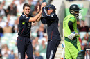 James Anderson celebrates after trapping Mohammad Yousuf in front