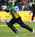 Kieran Noema-Barnett carves the ball through the off side, Warriors v Central Districts, Champions League Twenty20 2010, Port Elizabeth, September 18, 2010
