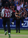 Mark Turner took a fine catch to remove Keith Barker, Somerset v Warwickshire, CB40 final, Lord's, September 18, 2010
