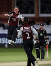 Ben Phillips claimed the big wicket of Jonathan Trott during a fine spell, Somerset v Warwickshire, CB40 final, Lord's, September 18, 2010
