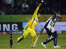 Suresh Raina bowls, Chennai v Victoria, Champions League Twenty20 2010, Port Elizabeth, September 18, 2010
