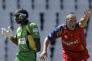 Ethan O'Reilly appeals successfully for Travis Dowlin's wicket, Lions v Guyana, Champions League Twenty20 2010, Johannesburg, September 19, 2010