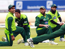 Pakistan's squad trains ahead of the fourth ODI at Lord's, September 19 2010