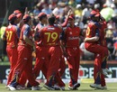 Lions are overjoyed after dismissing Ramnaresh Sarwan