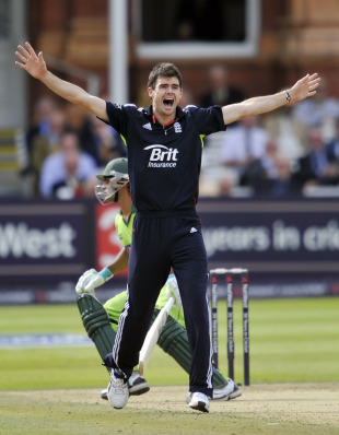 James Anderson bowled well but without luck in his first spell, England v Pakistan, 4th ODI, Lord's, September 20, 2010