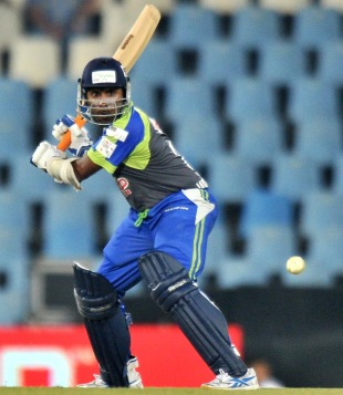 Mahela Jayawardene winds up for a big hit, Victoria v Wayamba, Champions League Twenty20, Centurion, September 20, 2010