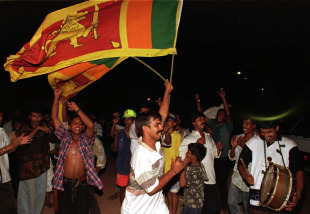 Joyous celebration erupted in Colombo after the 1996 World Cup win