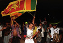 Sri Lankan fans celebrate the World Cup win over Australia, Colombo, March 17, 1996