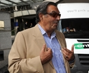 Pakistan team manager Yawar Saeed speaks to the media outside the team hotel in London, September 21 2010