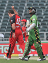 Richard Ramdeen walks back after being dismissed by Daniel Christian, Guyana v South Australia, Champions League Twenty20, Johannesburg, September 21, 2010