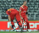 A pumped-up Dale Steyn runs out Vaughn van Jaarsveld, Lions v Bangalore, Champions League Twenty20, Johannesburg, September 21, 2010