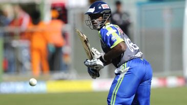 Mahela Udawatte scratched around for a 37-ball 23