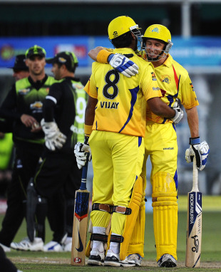 Michael Hussey and M Vijay added 63 runs upfront, Warriors v Chennai Super Kings, Champions League T20, Port Elizabeth, September 22, 2010