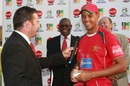 Ed Rainsford was the Player of the Match for taking 4 for 23, Zimbabwe v Ireland, 1st ODI, Harare, September 26, 2010