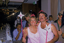 Allan Lamb and his wife dressed as plum fairies in a fancy dress party