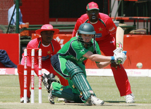 William Porterfield held the Ireland top order together with 46, Zimbabwe v Ireland, 3rd ODI, Harare, September 30, 2010