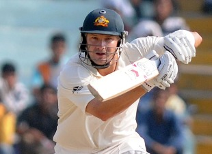 Shane Watson delivered a quick start for Australia in the second innings, India v Australia, 1st Test, Mohali, 4th day, October 4, 2010