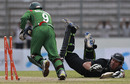 Mushfiqur Rahim celebrates after running Shanan Stewart out, Bangladesh v New Zealand, 1st ODI, Mirpur, October 5, 2010