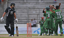 The Bangladesh fielders celebrate the dismissal of Ross Taylor, Bangladesh v New Zealand, 1st ODI, Mirpur, October 5, 2010