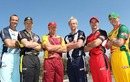 Stuart Clark, Adam Voges, James Hopes, Cameron White, Michael Klinger and George Bailey get ready for the Australian domestic season