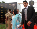 Anil Kumble arrives for the ICC Awards in Bangalore