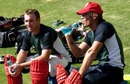 Brendan Taylor and Charles Coventry take a break