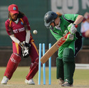 Ireland batsman Melissa Scott-Hayward is bowled as West Indies wicketkeeper Merissa Aguilleira looks on, ICC Women's Cricket Challenge, Potchefstroom, October 7, 2010