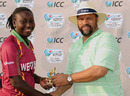 West Indies opener Stafanie Taylor, who made 72, was awarded the player of the match