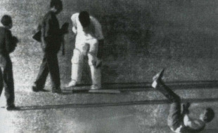 Bill Lawry was accused of striking a photographer during a pitch invasion, India v Australia, 4th Test, Calcutta, December 16, 1969