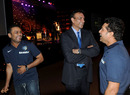 Virender Sehwag, Ravi Shastri and Sachin Tendulkar share a laugh at the ICC awards