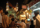 Indian fans watch a World Cup match outside a shop near the Charminar, Hyderabad, March 17, 2007