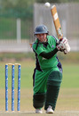 Ireland batsman Isobel Joyce drives through the off side during her innings of 63, ICC Women's Cricket Challenge, Potchefstroom, October 10, 2010