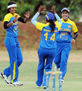 Chamani Seneviratna celebrates after dismissing Cecelia Joyce, Ireland Women v Sri Lanka  Women, ICC Women's Cricket Challenge, Potchefstroom, October 12, 2010