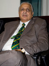 Ijaz Butt, the PCB chairman, at the ICC board meeting, Dubai, October 12, 2010